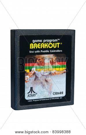Breakout Atari 2600 Game Cartiridge
