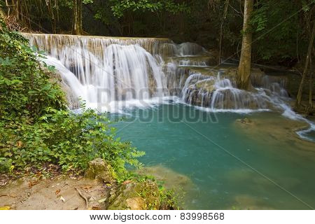 Waterfall White And Blue