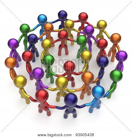 Social Network Large Group People Human Resources Worldwide