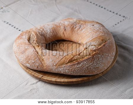 Galician Bread. A Typical And Delicious Meal Of Galicia