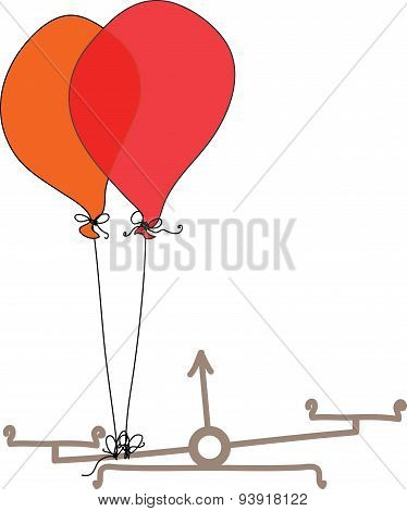 Libra - cheating with Balloons