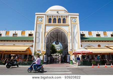 Market Nea Agora Of Mandraki In Rhodes