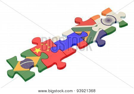 Brics Summit Concept With Puzzle