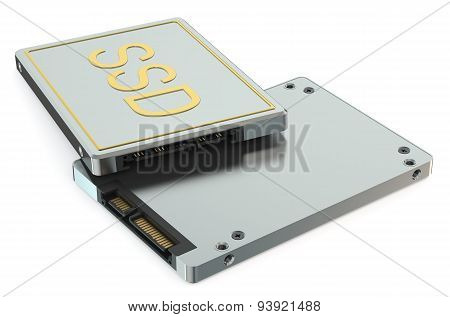 Solid State Drive Ssd Top And Bottom Views