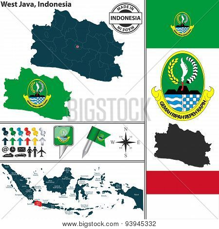 Map Of West Java, Indonesia