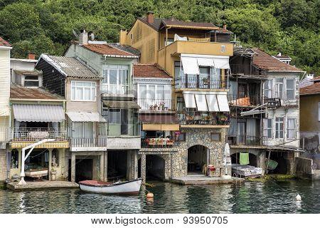 Coastline Houses At Anadolu Kavagi, Istanbul, Turkey