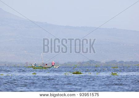 Fishermen At Lake Naivasha, Kenya, Editorial