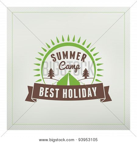 Retro Vintage Summer Camping Badge. Mountine Adventures And Outdoor Activities