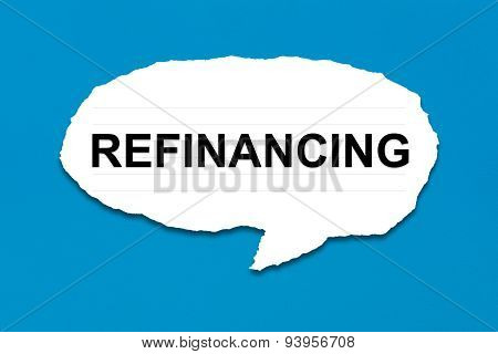 Refinancing With White Paper Tears
