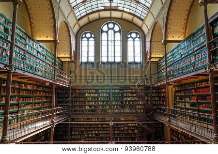 Amsterdam, Netherlands - May 6, 2015: Rijksmuseum Research Library