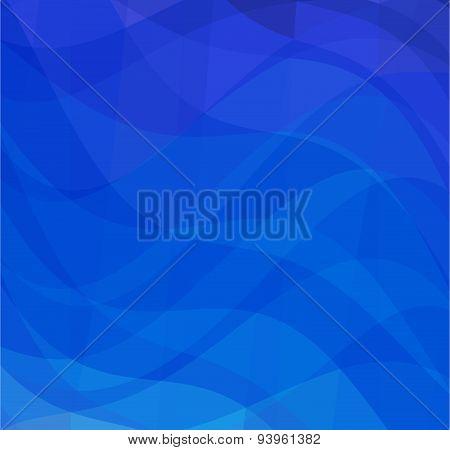 Vector geometric blue background