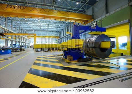 VSEVOLOZHSK, LENINGRAD OBLAST, RUSSIA - JUNE 5, 2015: Industrial building of the joint enterprise Severstal-SSC-Vsevolozsk. The joint venture of Severstal and Japanese Mitsui was established in 2010