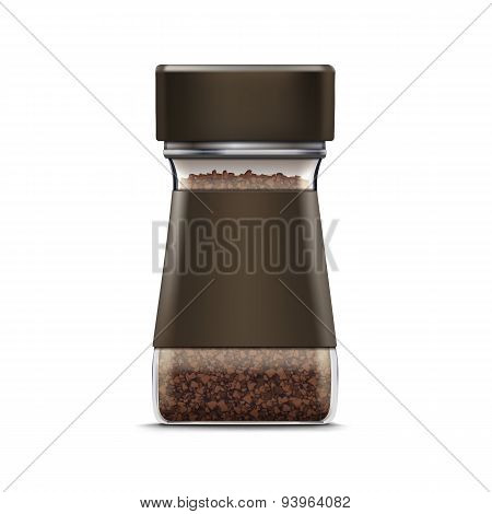 Vector Coffee Glass Jar Packaging Package Isolated