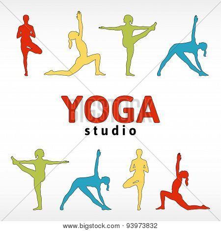 Sign for a yoga studio.