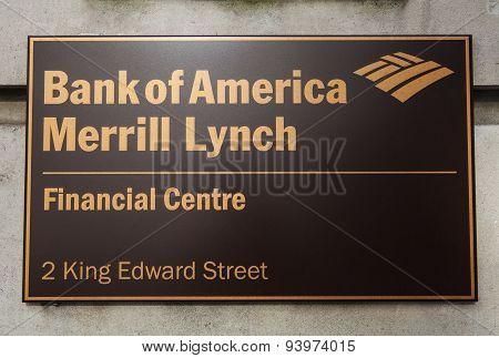 Bank Of America Merrill Lynch In London