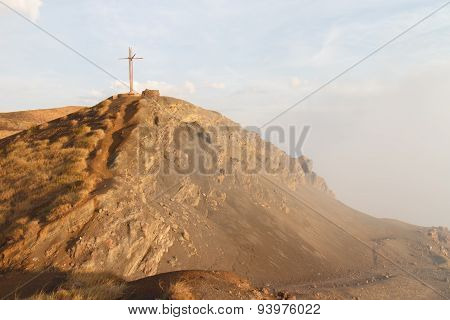 Volcan Masaya view at sunshine in Nicaragua poster