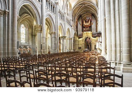 The Cathedral Of Notre Dame (lausanne) Hall Interior