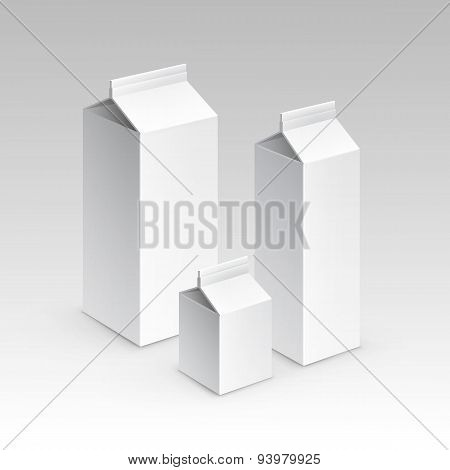 Milk Juice Carton Packaging Package Box White