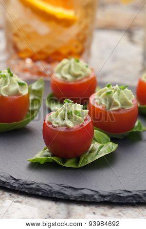 Avocado Cheese Stuffed Tomatoes.