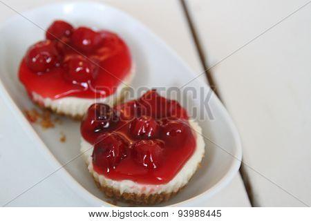 Cherry cream cheese tart