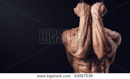 Power Hands In Front Of Face