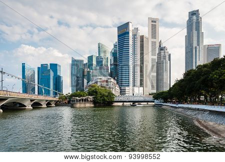 Panorama of Singapore Central Business District (CBD)