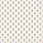 Repeating geometric background with  symbol of  feminine. Seamless vector pattern. For wrapping paper, fabric, textiles, wallpaper, substrate poster