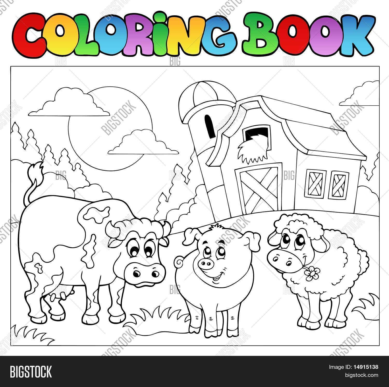 Coloring Book With Farm Animals 3