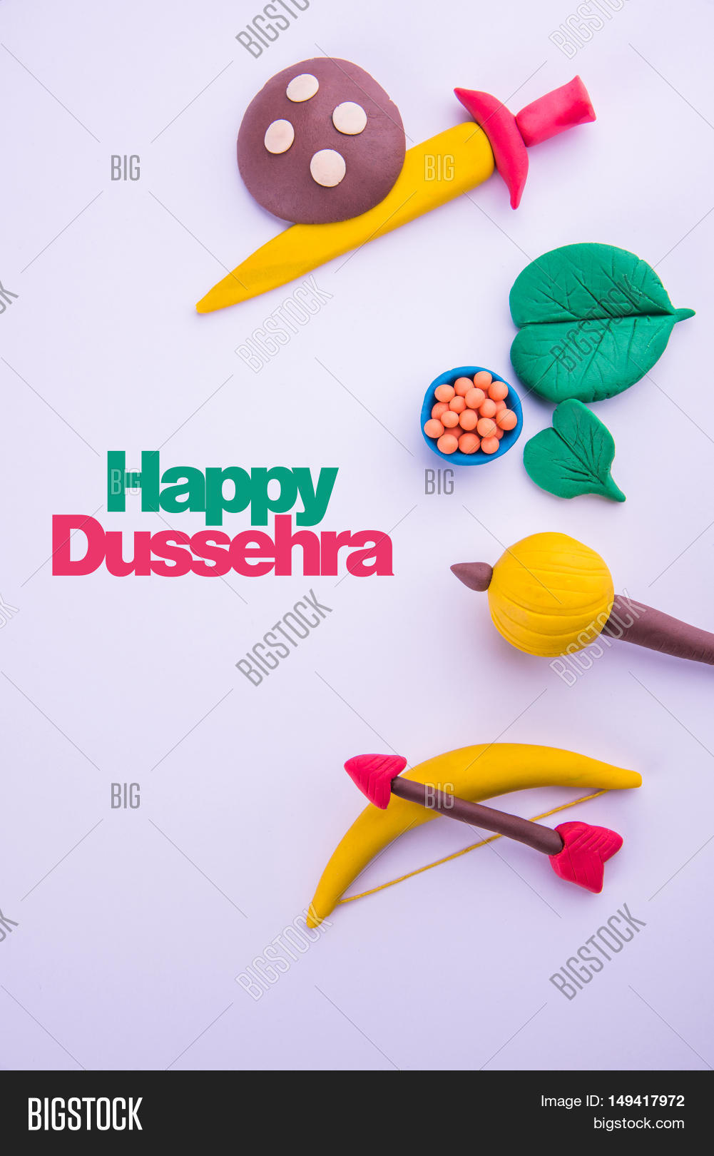 Happy Dussehra Greeting Card Made Image Photo Bigstock
