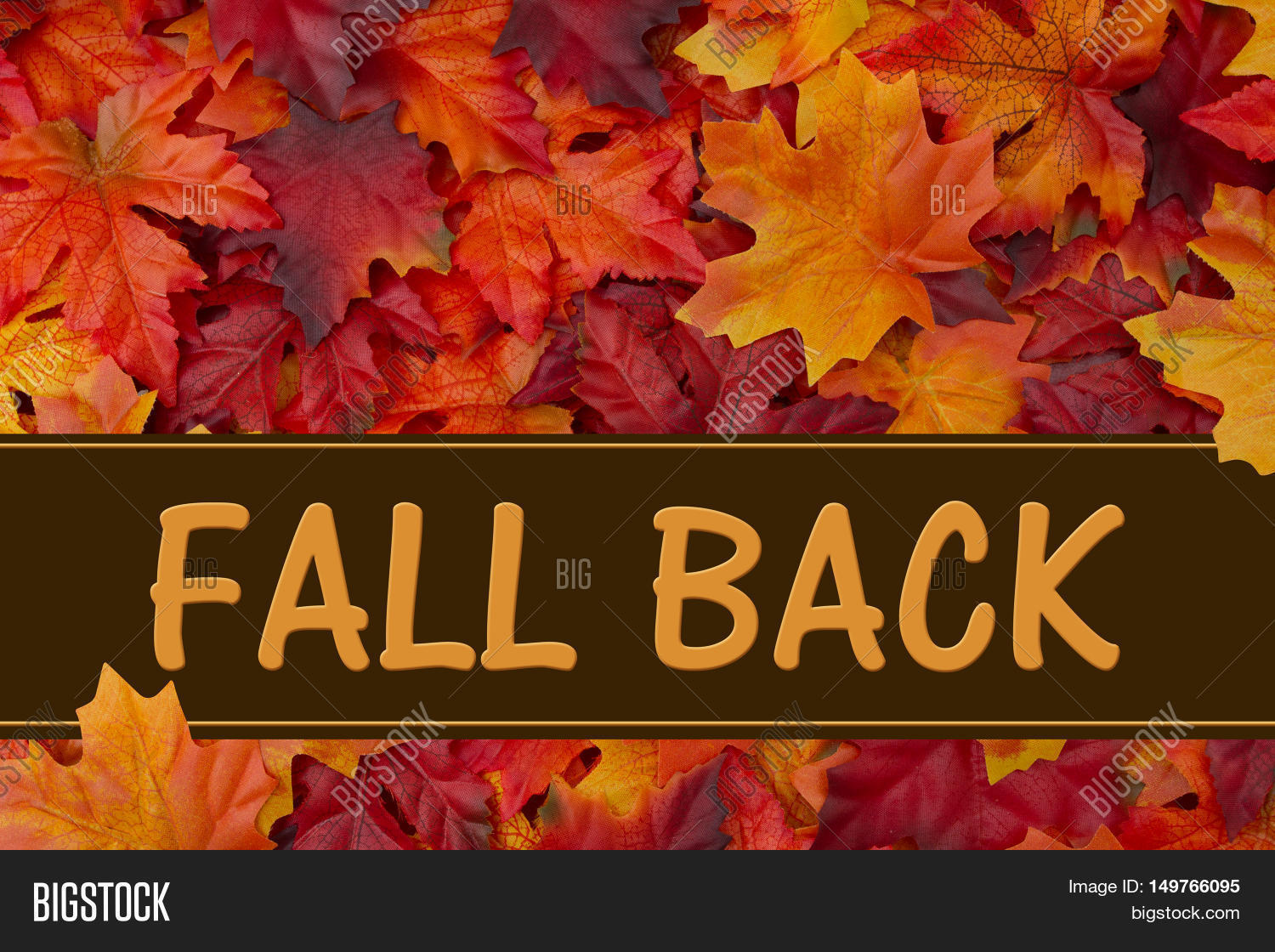 Fall Back Message Some Image Photo Free Trial Bigstock