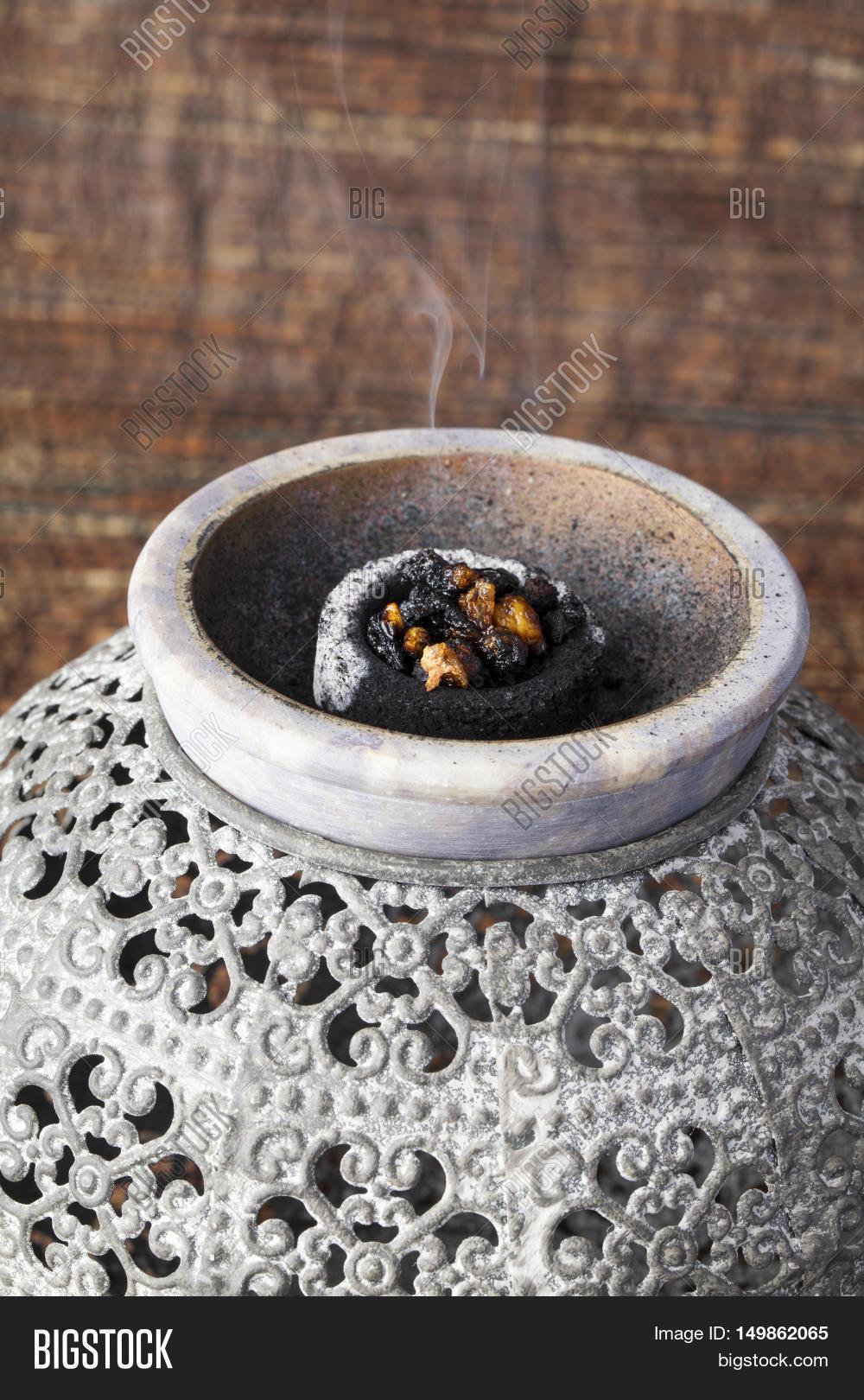 Myrrh Burning On Hot Image Photo Free Trial Bigstock