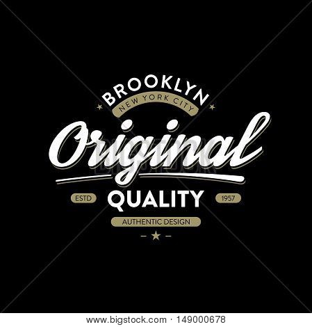 T-shirt typography design. Artwork apparel stamp. Vector illustration