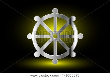Wheel of Dharma , symbol of Buddhism ,