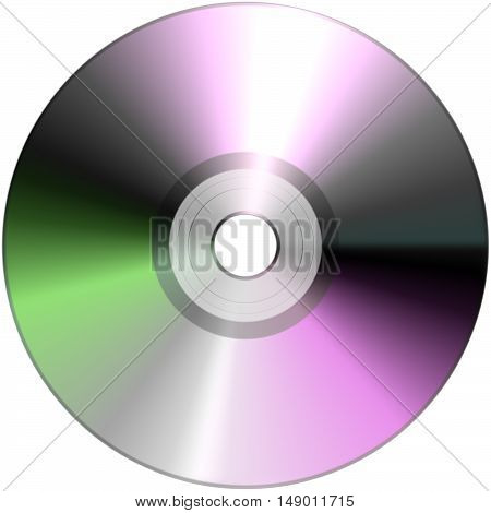 DVD isolated on White disk cd technology