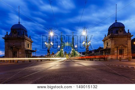 Bridge of Freedom (Szabadság híd) in Budapest