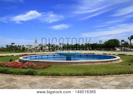 Fountain at Mosque Ahl Fas in Rabat Morocco