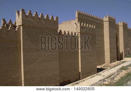 Restored ruins of the ancient Babylon, Iraq.