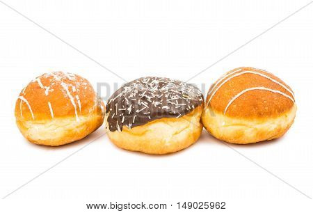 donuts goodies  food on a white background