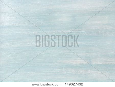 Light blue faded painted wooden texture, background and wallpaper. Horizontal composition