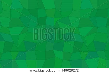 Abstract polygonal background of triangles and tetragons in green colors