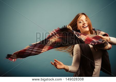 Nice Woman With Scarf.