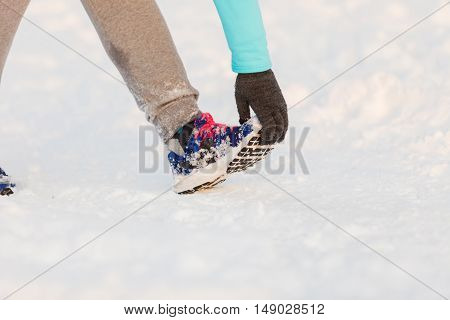 Person Staying In Shape In Winter