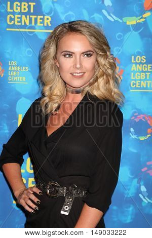 LOS ANGELES - SEP 24:  Victoria Bech at the Los Angeles LGBT Center 47th Anniversary Gala Vanguard Awards at the Pacific Design Center on September 24, 2016 in West Hollywood, CA