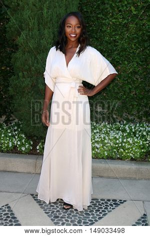 LOS ANGELES - SEP 25:  Aja Naomi King at the The Rape Foundation's Annual Brunch at the Private Residence on September 25, 2016 in Beverly Hills, CA