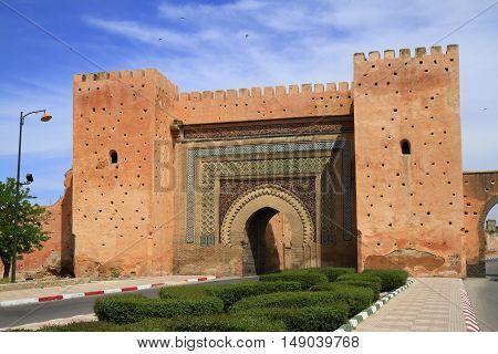 Bab el-Khemis Gate in Meknes Morocco, Africa