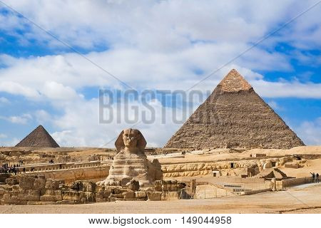 Giza Pyramids and Sphinx in Cairo - Egypt