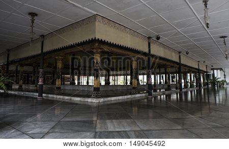 YOGYAKARTA INDONESIA APRIL 2016 : Architecture design & Interior decoration around Sultan Palace , Kraton Ngayogyakarta Hadiningrat Javanese Indonesia.