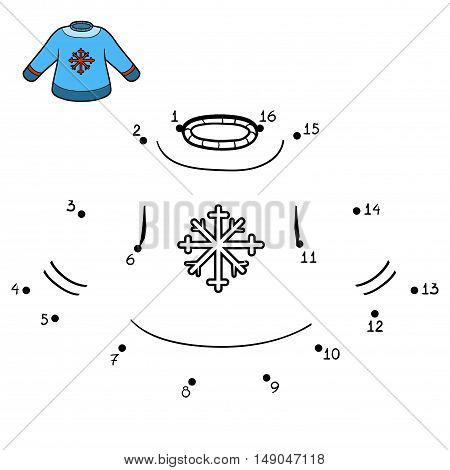 Numbers Game, Pullover With Snowflake