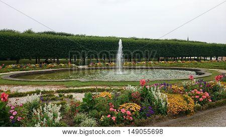 A fountain in  the Schlosspark near the Augustusburg palace  in Brühl, North Rhine-Westphalia, Germany
