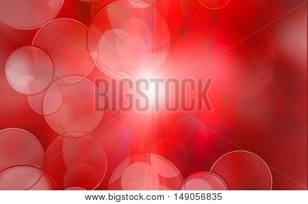 Abstract red Flickering Lights abstract festive background with bokeh defocused lights.